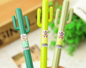 Cactus Gel Pens / Kawaii Pens / Planner Pens / Cute Pens / Cute Stationary / Cactus Pen / Cute Gel Pen /  Kawaii Pen / Kawaii Stationery