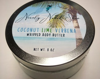 Coconut Lime Verbena Whipped Body Butter| Bath and Body| Body Lotion| Tropical Scent| Skin Care