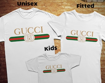 Gucci Family, T-shirt with individual design, 100% cotton, for man/woman/kids