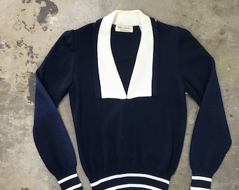 Vintage Nautical Sweater small wt47760
