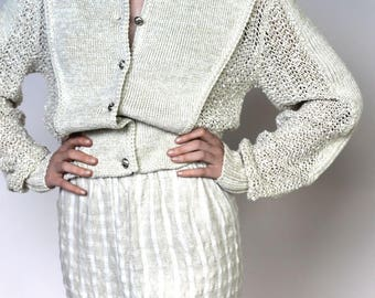 endless summer -- vintage minimalist textured cotton shorts XS