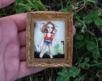 Art Painting 50% discount Miniature Oil Original Painting for Dollhouse or Collection by VaKaDi