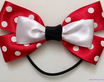 Disney Minnie Mouse Inspired Double Hair Bow