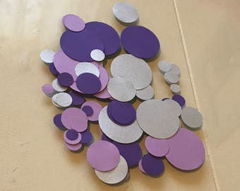 Purple & Silver Party Confetti / Birthday Party / Bridal Shower / Bachelorette Party / Baby Shower / Party Decor