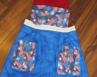 American Flag Apron for Women/ Teens (Reversable)