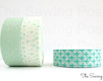 Washi Tape Set: Mint Sprinkles