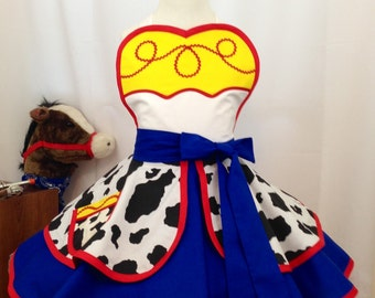 Girl's Jesse inspired Cow Girl Child's Dress Up Apron, Kid's Apron,Halloween Costume, Toy Story, Disneybound