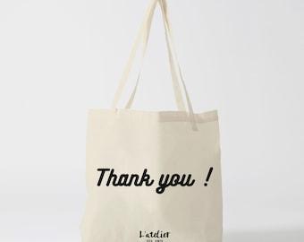 Tote bag thank you, thank you, bag canvas, shopping bag, sports bag, bag, diaper bag, computer bag, beach bag, bag message