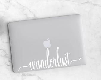 Wanderlust decal, Sticker for laptop, Laptop stickers, Laptop decal, Wanderlust laptop sticker, Laptop keyboard sticker, Cute laptop sticker