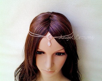 Rose gold head chain Etsy