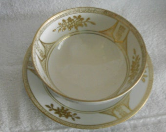Vintage Noritake Condiment Bowl and Under Plate