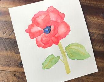 Poppy Watercolor (Original)