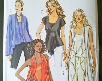 Butterick Fast & Easy B4989 Uncut Sewing Pattern - Ten Women Tops and Camisole, Sizes XS, S, M