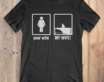Marimba T-Shirt Gift: Your Wife My Wife