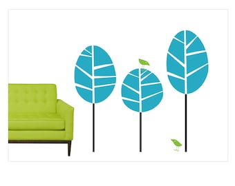 Vinyl Tree Wall Decals Retro Modern BT-100