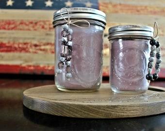 Wisteria Lilac Beeswax & Soy Wax Mason Jar Candles/ Healthy Benefits/ Clean Burning/ All Natural