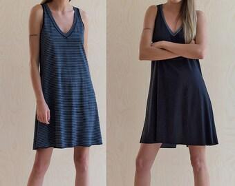 Sleeveless Dress Black Dress Tunic Dress Striped Dress Tank Dress Summer Dress Casual Dresses for Women knee Lemgth Dress