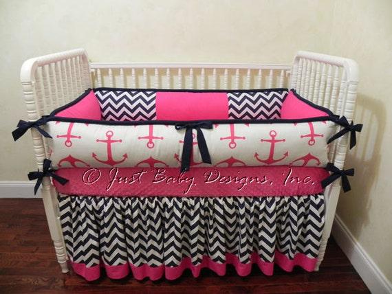 Custom Nautical Baby Bedding Set Catalina Girl Baby