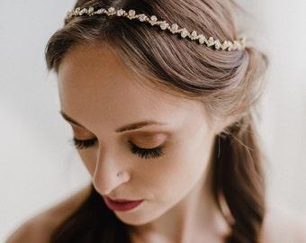 Wedding Headpiece | Bridal Hair Vine | Bridal Headband | Bridal Headpiece | Gold Wedding Hair Vine | Gold Rhinestone Headband | Astrid