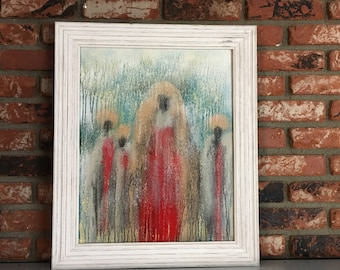 "Wall Art, Original Oil Painting On Canvas Abstract Art Titled ""Beautiful Maasai Women"" Hand Painted Artwork Item #501840351"