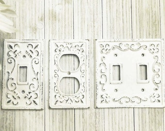 Light Switch Plate   Light Switch Cover   Switch Plate Cover   Cast Iron  Switchplate