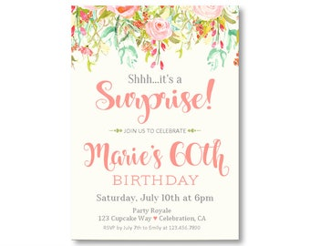 Surprise birthday invitations printable surprise 30th surprise birthday invitation surprise 60th birthday invites surprise birthday party invitations surprise party invitation digital or filmwisefo Image collections