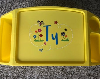 Girl's Lap Desk, Personalized Flowers Butterflies Spring Activity Tray