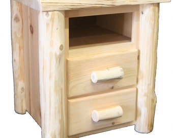 Frontier Hand Peeled 2 Drawer Nightstand - FHP8002