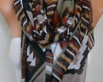 Southwestern Cotton Scarf,Soft,Bohemian, Aztec Scarf Tribal Scarf Pareo Shawl Gift Ideas For Her Women Fashion Accessories,Birthday Gift