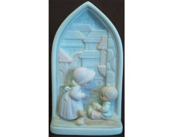 Precious Moments Fifth Beatitude Chapel Window Blessed Are the Merciful Signed Ltd Ed Trumpet 1994 Chapel Exclusive Enesco 523291 NIB