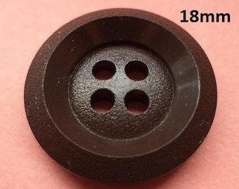 10 buttons Dark brown 18 mm (5770) button Brown