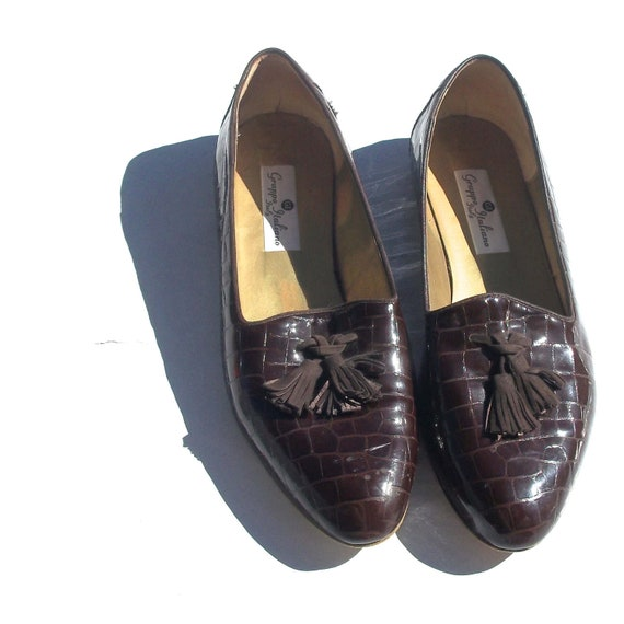11 tassel loafers dark brown pointed curve toe GRUPPO ITALIANO