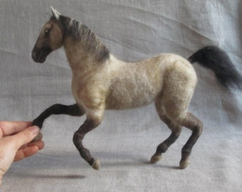 Custom made needle felted sculpture of your horse, gift for you or your horse lover by Noelle Stiles, 2-3 month turnaround time
