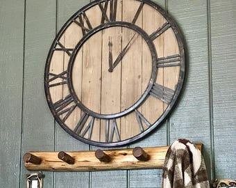 Log Furniture- Log Coat Rack- 5 Peg Coat Rack, Cabin Furniture