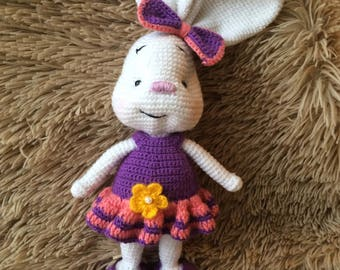 Crocheted Bunny - Amigurumi Stuffed Rabbit