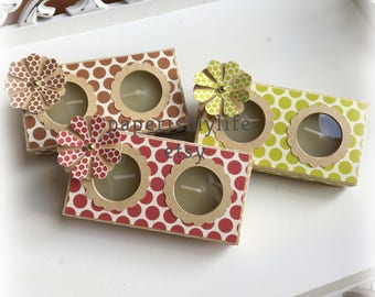 Box for two large tealights. Digital cutting file. SILHOUETTE STUDIO V3 FILE.