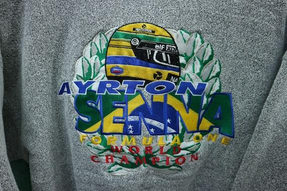 Champion One Pullover Logo Racing Senna L Vintage Driver Formula Ayrton Sweatshirt One Size Big Formula Embroidery Sweater Brazilian fw6U4Iq