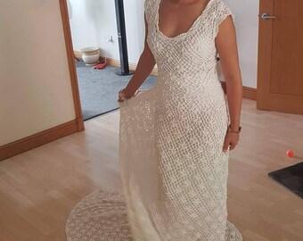 Wedding, Handmade, Crochet Wedding Dresss. Made to order.