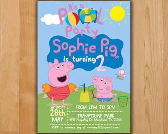 Peppa Pig Invitation Peppa Pig Birthday Invitation Peppa