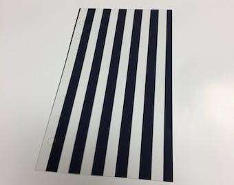 Personal Flyleaf - Navy vertical stripe
