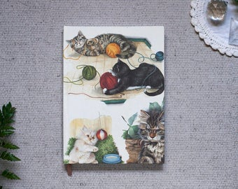 Cats Hardcover Notebook in A5