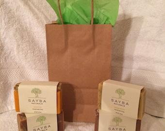 Gift bag of 4 bars of soap