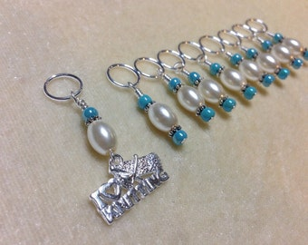 I Love Knitting Knitting Stitch Marker Set, Snag Free Gift for Knitters. Stitch Marker Charm Jewelry
