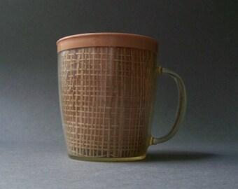 Vintage Plastic Raffia Ware Mug ~ 1960s