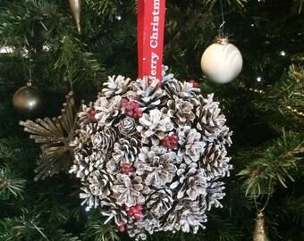 Hanging Pine Cone Ball