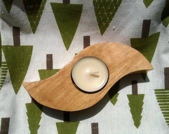 Candle holder, Wooden candle holder, Tea light candle holder, Tea light holder, Candle holder centerpiece