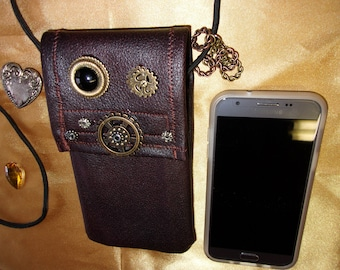 Cell phone purse, small crossbody bag, cell phone wallet, crossbody iphone purse, smartphone purse, cell phone pouch,  Leatherette phone bag