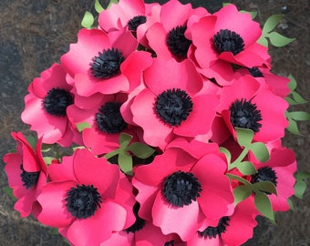 Red Paper Poppies - Oriental Poppies - Red Flowers - Centerpiece