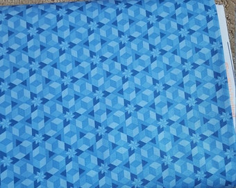 Alison Glass Diving Board Starfish Ocean Blue Fabric by the Yard