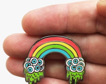 Eyeball Rainbow Enamel Pin